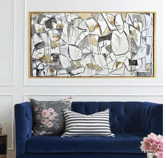 "60""x30""textured abstract painting   textured  original painting,by   Jolina Anthony"