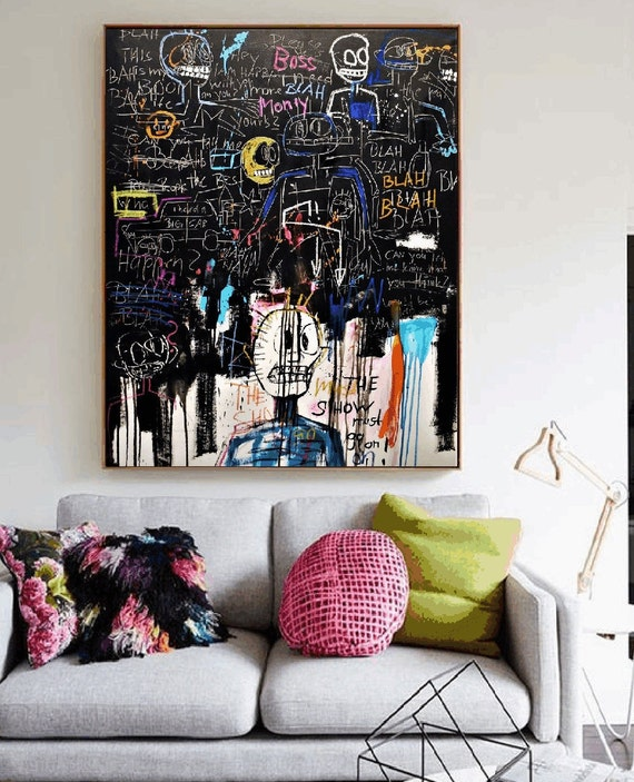 the show must go on abstract painting   modern ready to hang original painting,by   Jolina Anthony
