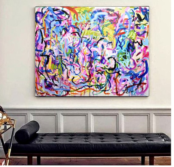 colorful abstract painting  stripes wall decor  ü  abstract art  nice oil painting jolina anthony oil painting