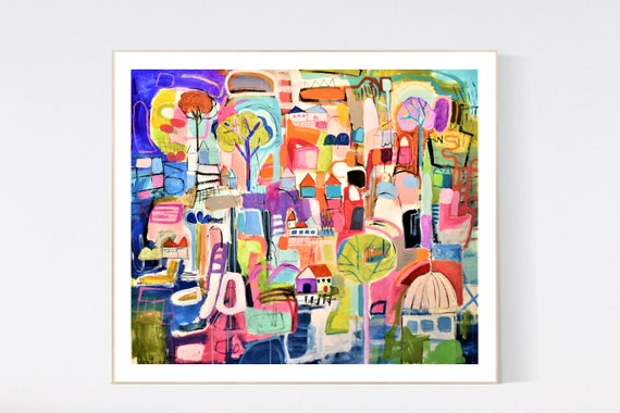 Tropic  abstract Art nice  abstract painting, Art Print  by Jolina Anthony