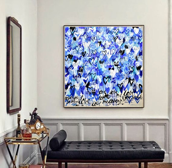 """40""""x40""""LOVE LOVE    abstract painting wunderful  Acrylic painting by jolina anthony"""