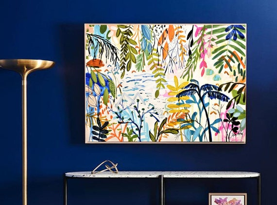 tropic garden abstract painting by jolina anthony oil painting