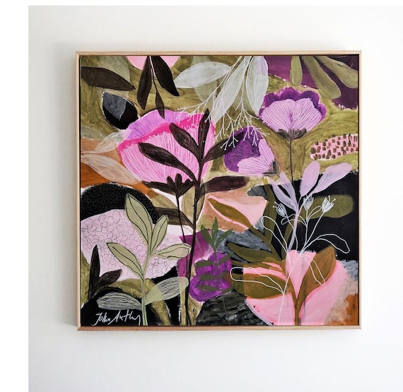 flower colorful  abstract  painting  , nice painting  by  Jolina Anthony