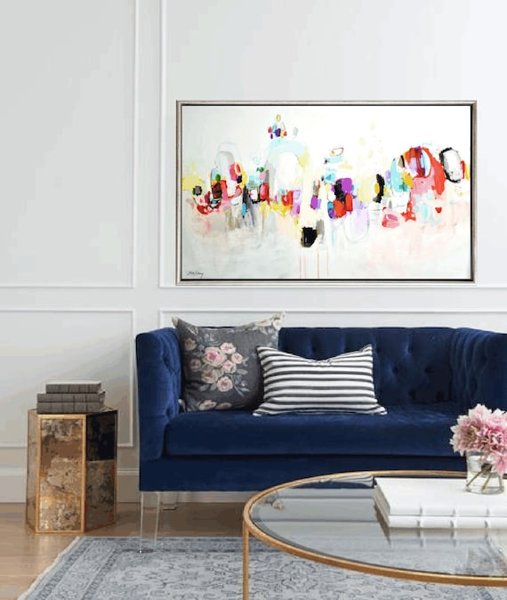 colorful livingroom   abstract  painting  , nice painting  by  Jolina Anthony