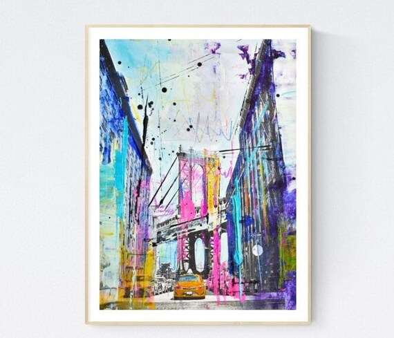 new york  abstract painting by Jolina Anthony   original painting