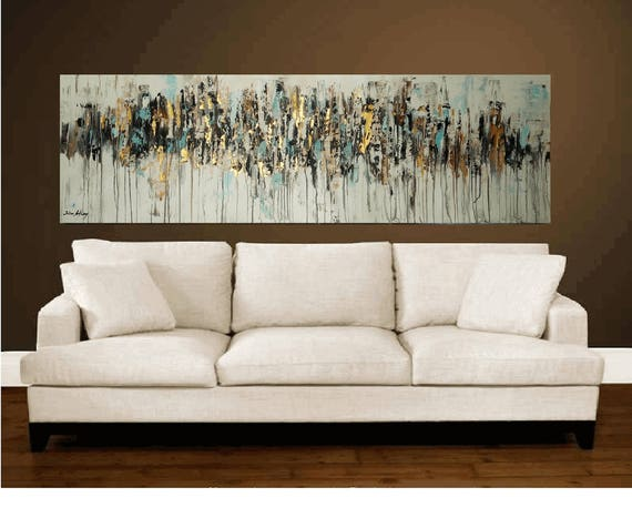"abstract painting creme,brown, painting , 70"" large painting by Jolina Anthony"