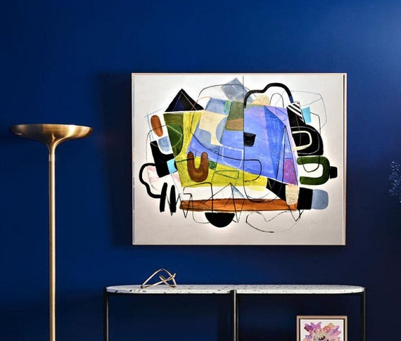 "abstract painting  ""mid century""   Gallery Artwork  original painting  by Jolina Anthony"