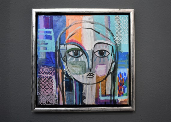 framed Women    abstract  painting colorful abstract art by   from jolina anthony