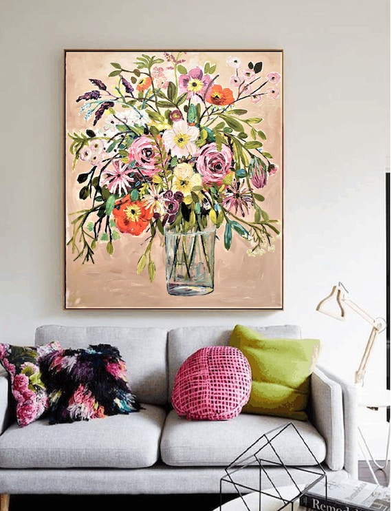 flower oil abstract painting by jolina anthony oil painting