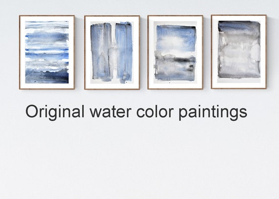et of 4   Abstract Painting nice water color painting by   Joilina Anthony