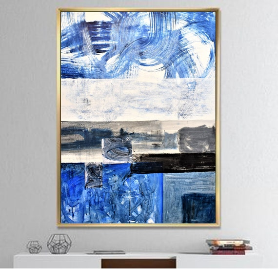blue  abstract Art nice  abstract painting,  by Jolina Anthony