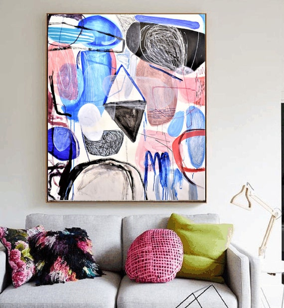 """abstract painting 50""""x40""""  ,  original painting, nice wall art by jolina anthony"""