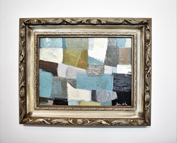vintage Framed   abstract painting    by Jolina Anthony