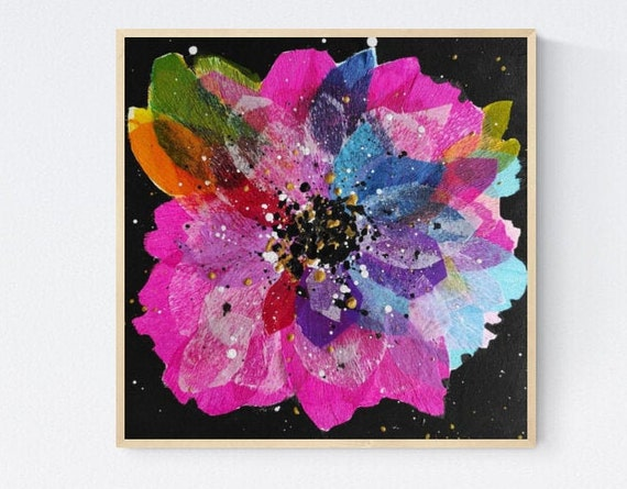 Flower abstract Painting nice  original painting   jolina anthony