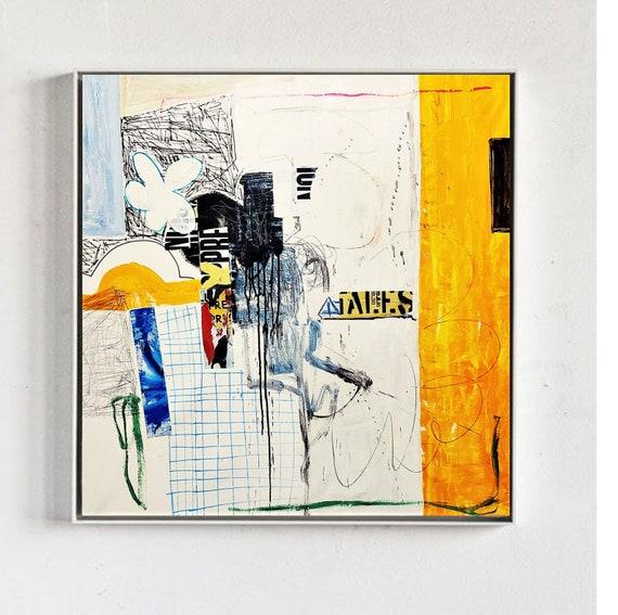 mixed media   abstract painting by jolina anthony