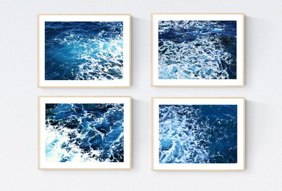 Mallorca Island photography sea  abstract painting nice art print by Jolina Anthony