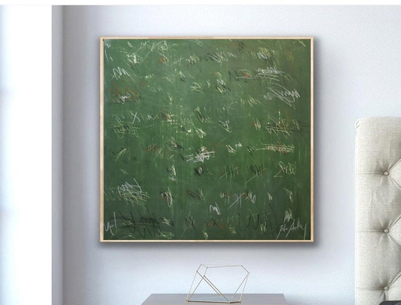 green textured   abstract  painting,nice abstract art   by   Jolina Anthony