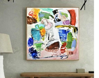 abstract art colorful   abstract painting nice  original painting by Jolina Anthony,