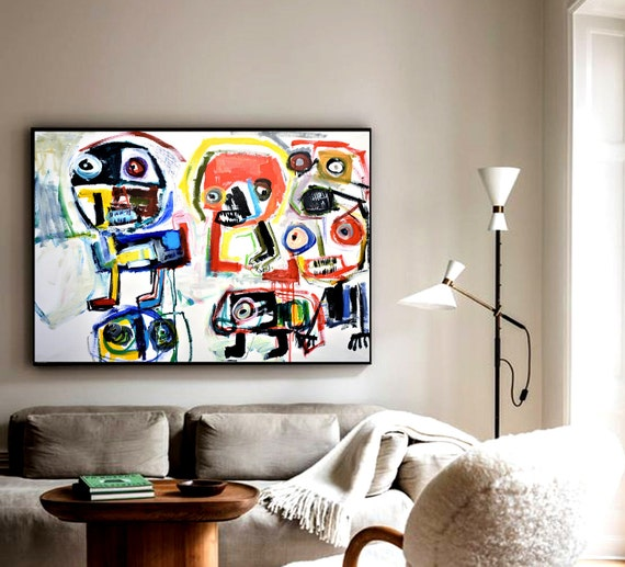 """colorful 40""""x30"""" abstract painting nice original painting by Jolina Anthony"""