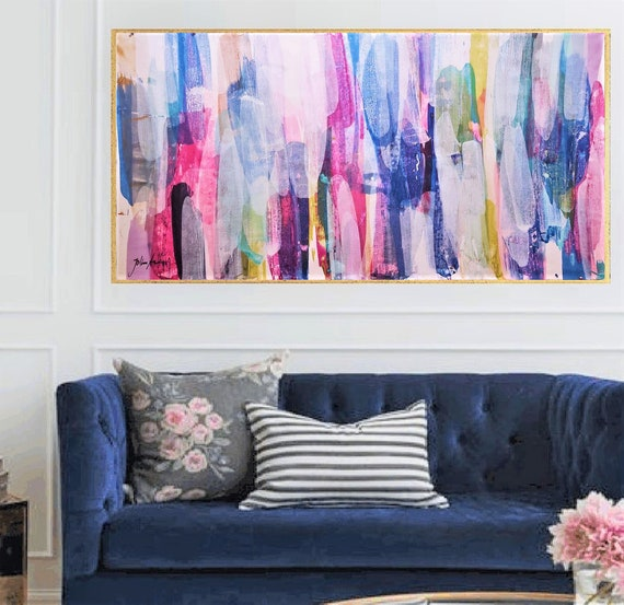 """60"""" colorful    abstract painting nice abstract art and large abstract art  by Jolina Anthony"""