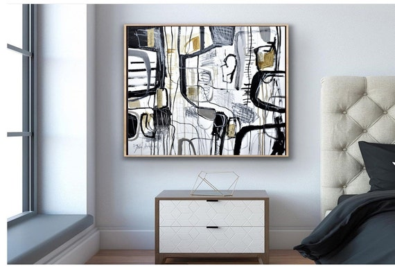 """40x30""""mixed media abstract painting nice original painting livingroom oil painting"""