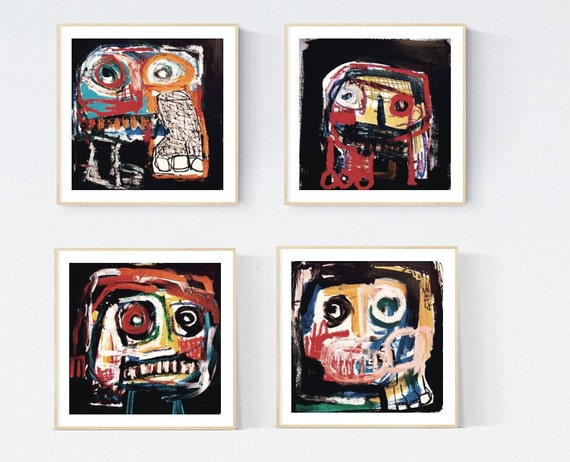 set of 4  abstract painting,by Jolina Anthony