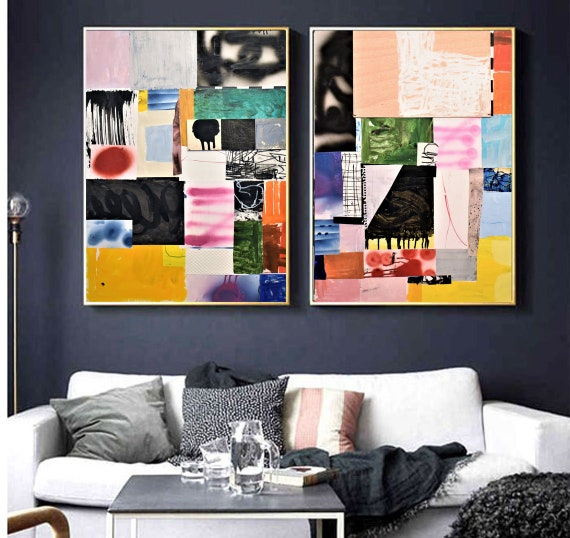 abstract Art nice   abstract painting, colorfol original painting   by Mathias Anthony
