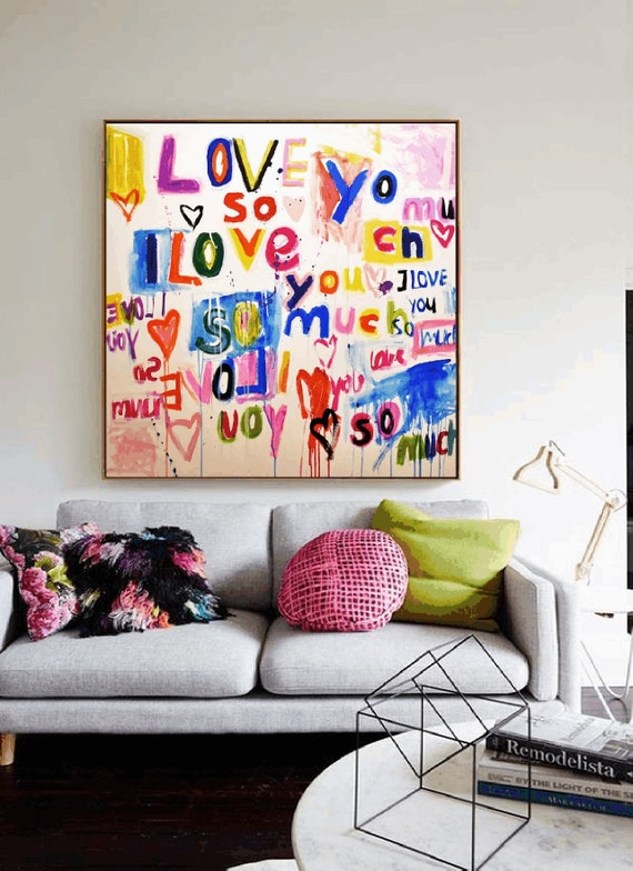love you so much  abstract painting  nice abstract art by Jolina Anthon