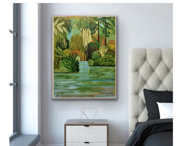 Jungle Landscape   abstract  painting colorful abstract art by   from jolina anthony