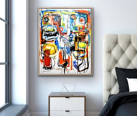 brut art  abstract painting,colorful ,wall art,nice ,original painting,, face ,oil painting,nice ,abstract art
