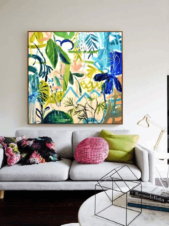 tropic dream   abstract painting,, oil painting ,, large abstract painting,  Acrylic painting  ,original painting