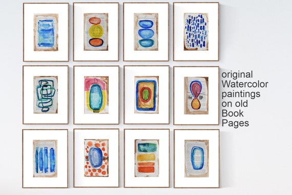 book pages   abstract Painting  blue  nice  oil painting  from   Jolina Anthony