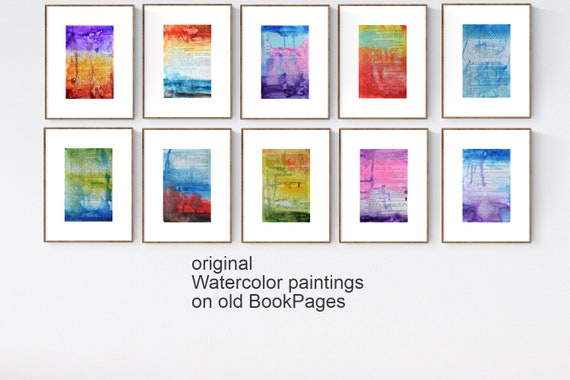 book pages abstract painting  nice abstract art by Jolina Anthon