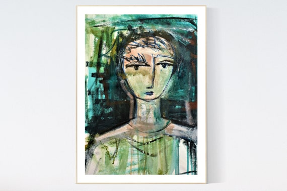 Figures abstract Painting nice  original painting   jolina anthony