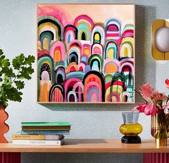 colorful    abstract painting nice  abstract art colorful  original painting    by Jolina Anthony