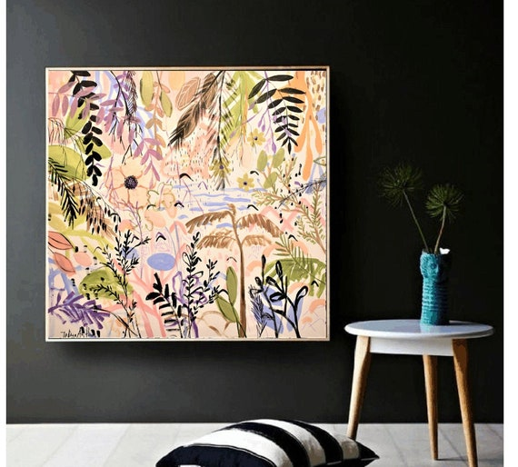 abstract art tropic   abstract painting nice  original painting by Jolina Anthony,