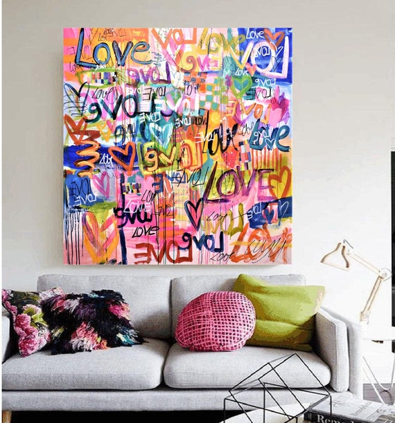 """50""""x42"""" colorful mixed media   abstract painting by jolina anthony"""