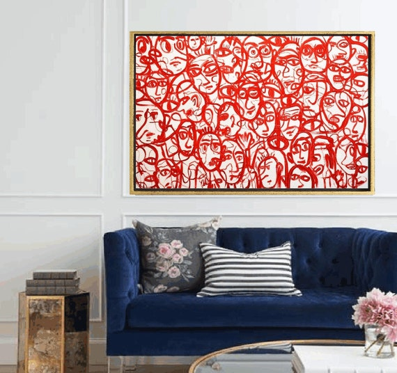so much Faces abstract painting,, oil painting ,, large abstract painting,  Acrylic painting  ,original painting