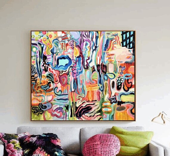 colorful expensive   abstract painting by jolina anthony