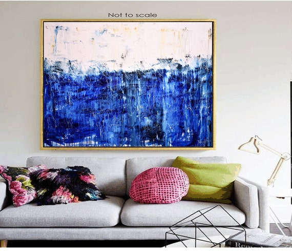 "60""x42"" textured  extra large wall art Jolina anthony  abstract Painting,"
