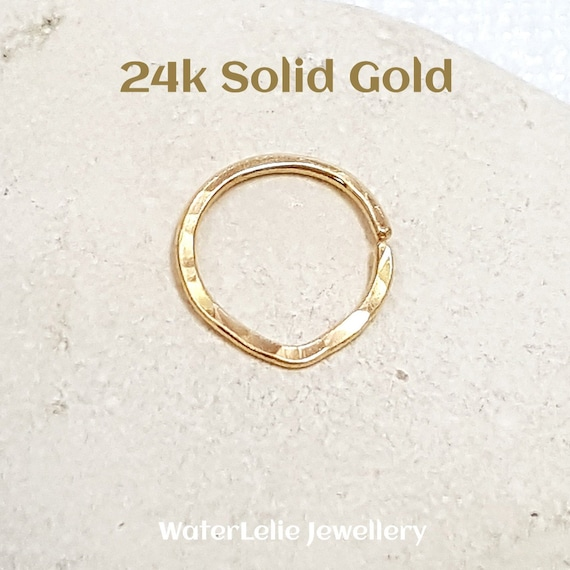 Solid 24k Gold Nose Ring 24k Gold Septum Ring Solid Gold