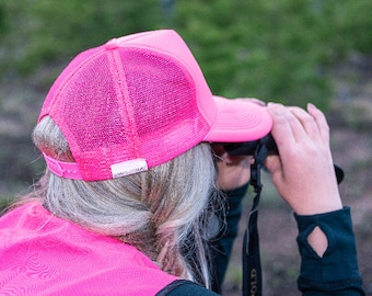 Blaze Pink Hunting Trucker Hat