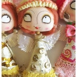 Gold Angel Dangly Doll Xmas Decoration Ornament