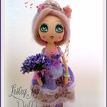 Penelope Featherpin, Shabby Chic Lilac Purple Floral Art Doll
