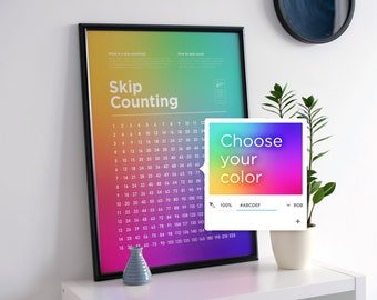 Skip Counting Poster (Simple Style – Choose a Color)