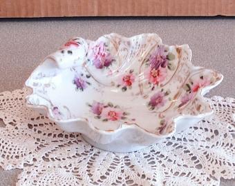 Vintage Hand Painted Porcelain Bowl.