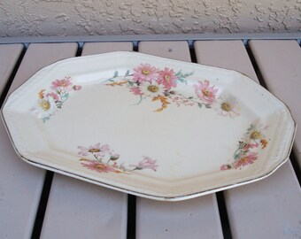 Vintage EDWIN KNOWLES China Co. Platter 53-8 Pattern.