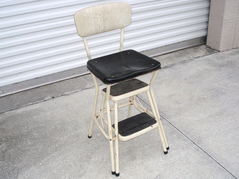 Superb Vintage Cosco Business Industrial Metal Stool Chair With 2 Steps Ncnpc Chair Design For Home Ncnpcorg