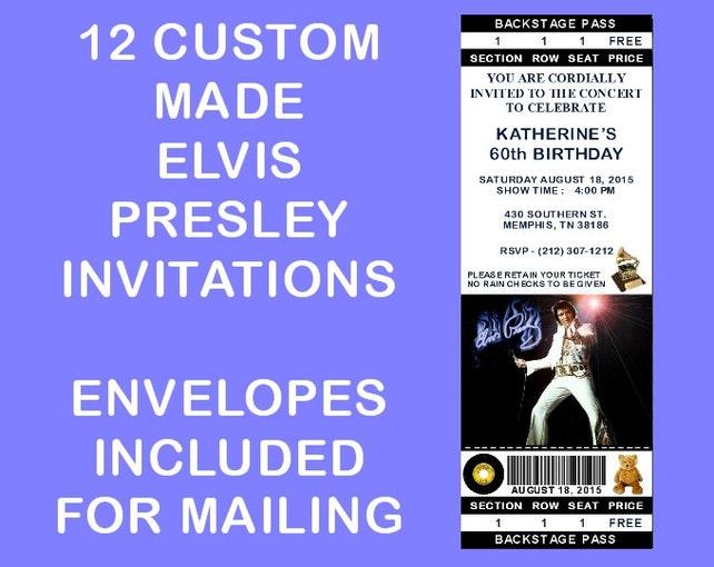 12 personalized elvis presley party invitations birthday etsy image 0 filmwisefo