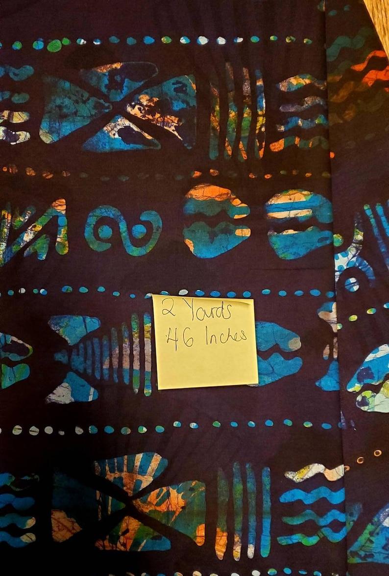 Nigerian Adire Batik Fabric